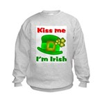 Kiss Me I'm Irish Hat ver2 Kids Sweatshirt