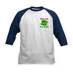 Kiss Me I'm Irish Hat ver2 Kids Baseball Jersey
