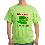 Kiss Me I'm Irish Hat ver2 Green T-Shirt