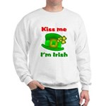 Kiss Me I'm Irish Hat ver2 Sweatshirt