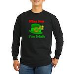 Kiss Me I'm Irish Hat ver2 Long Sleeve Dark T-Shi