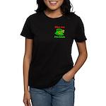 Kiss Me I'm Irish Hat ver2 Women's Dark T-Shirt