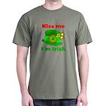 Kiss Me I'm Irish Hat ver2 Dark T-Shirt
