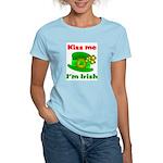 Kiss Me I'm Irish Hat ver2 Women's Light T-Shirt