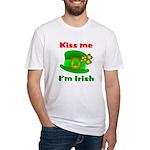 Kiss Me I'm Irish Hat ver2 Fitted T-Shirt