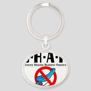 Crap Oval Keychain