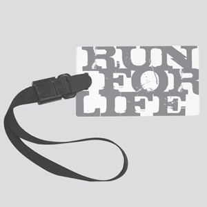 Run for Life Gray Large Luggage Tag