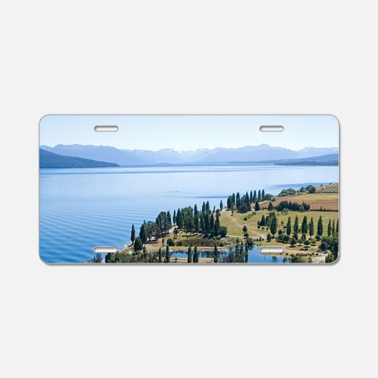 New Zealand - aerial, Fiord Aluminum License Plate