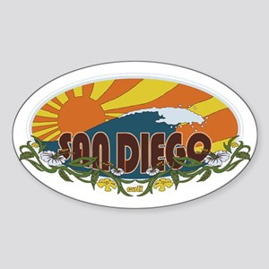 sunrise Sticker (Oval)