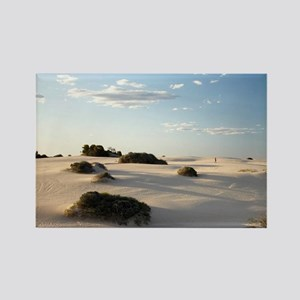 Person and Sand Dunes, Mungo Nati Rectangle Magnet