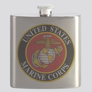 Marine Emblem Flask