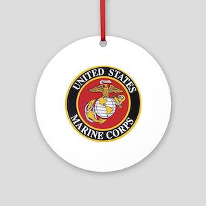 Marine Emblem Round Ornament