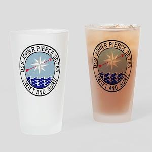 DD-753 USS John R Pierce Destroyer  Drinking Glass