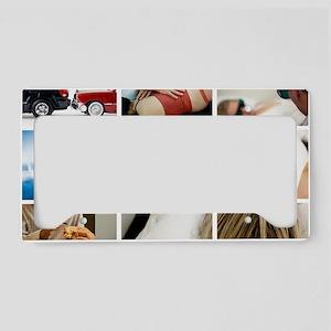 collage02 License Plate Holder