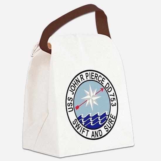 DD-753 USS John R Pierce Destroye Canvas Lunch Bag