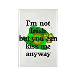 Not Irish Kiss Me Hat Rectangle Magnet (100 pack)