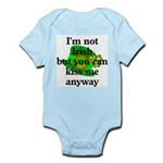 Not Irish Kiss Me Hat Infant Bodysuit