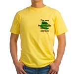 Not Irish Kiss Me Hat Yellow T-Shirt