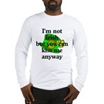Not Irish Kiss Me Hat Long Sleeve T-Shirt