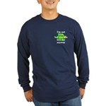 Not Irish Kiss Me Hat Long Sleeve Dark T-Shirt