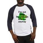 Not Irish Kiss Me Hat Baseball Jersey