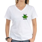 Not Irish Kiss Me Hat Women's V-Neck T-Shirt