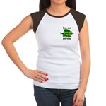 Not Irish Kiss Me Hat Women's Cap Sleeve T-Shirt