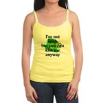 Not Irish Kiss Me Hat Jr. Spaghetti Tank