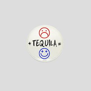 Plus Tequila Shot Glass Mini Button