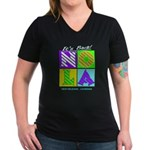 New Orleans NOLA Women's V-Neck Dark T-Shirt
