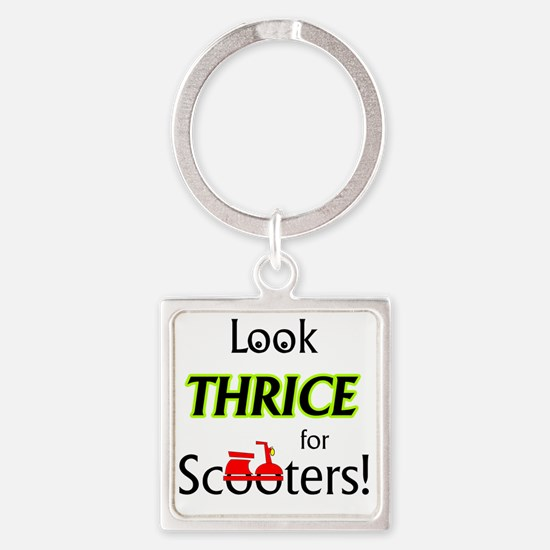 1_LookThrice Square Keychain