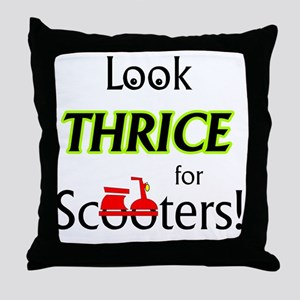 1_LookThrice Throw Pillow