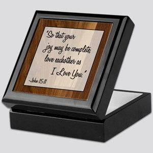 JOHN 15:11 Keepsake Box