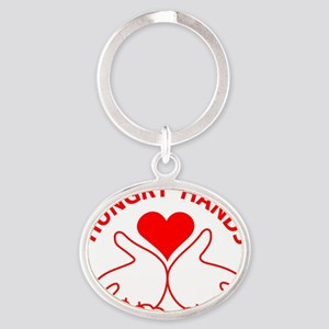 Hungry Hands Oval Keychain