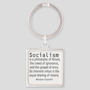 churchillsocialismshirt2 Square Keychain