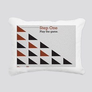 Pyramid Head Scheme Rectangular Canvas Pillow