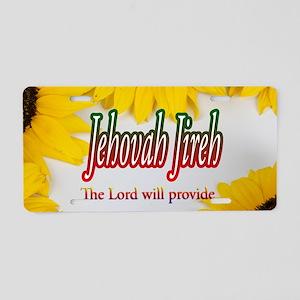 Jehovah Jireh Aluminum License Plate