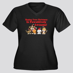 Dogs & Cats Pawsitively Awesome Christmas Women's