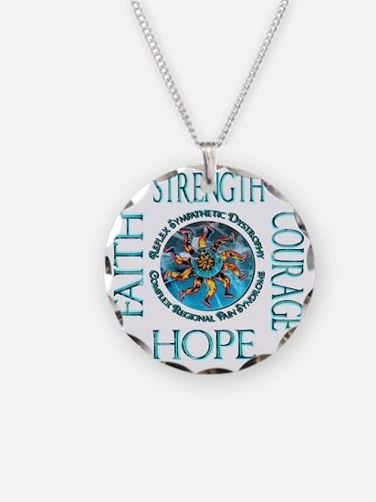 Faith Strength Courage Hope  Necklace