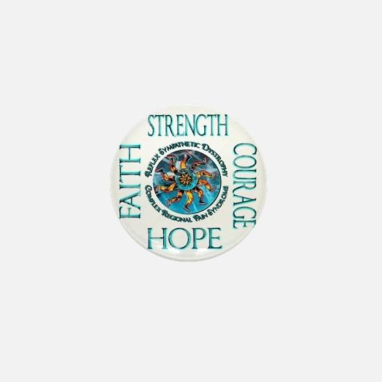 Faith Strength Courage Hope - Block Mini Button
