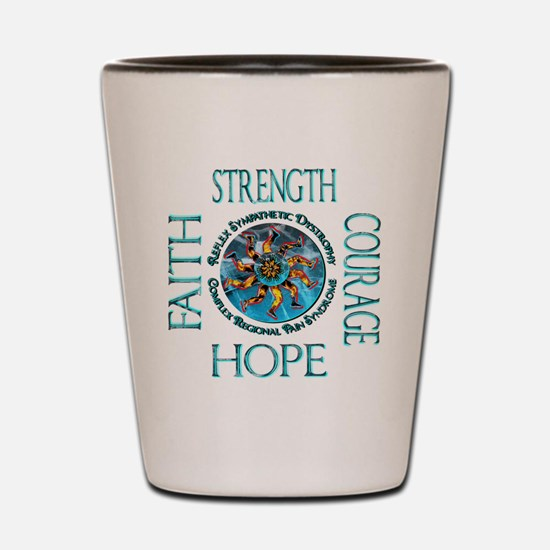 Faith Strength Courage Hope - Block Shot Glass