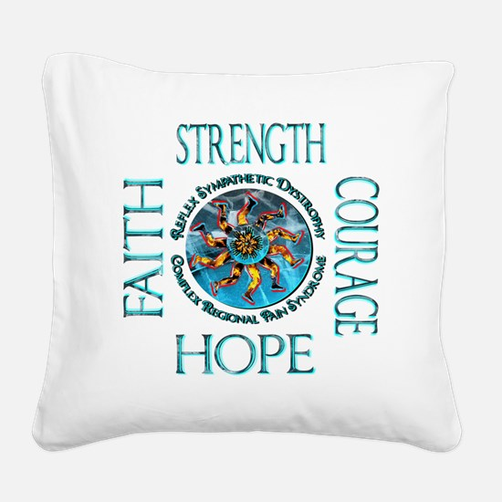 Faith Strength Courage Hope - Square Canvas Pillow
