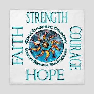 Faith Strength Courage Hope - Block Queen Duvet