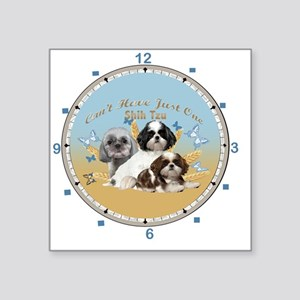 """Shih Tzu Cant Have Just One Square Sticker 3"""" x 3"""""""
