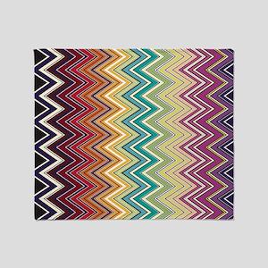 zigzag-horizontal Throw Blanket