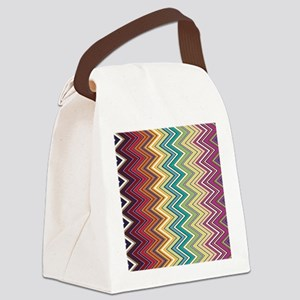 zigzag-horizontal Canvas Lunch Bag