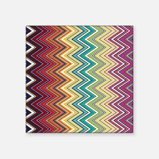 "zigzag-horizontal Square Sticker 3"" x 3"""