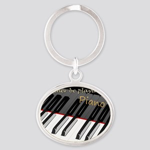 piano Oval Keychain