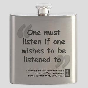 Rochefoucauld Listen Quote Flask
