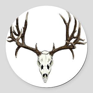 Buck deer skull Round Car Magnet